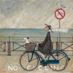Sam Toft No Cycling limited edition art print