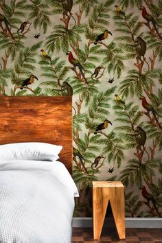 Natural World Jungle wallpaper by Miki Rose www.mikirosedesign.com