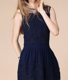 Vestidos Sleeveless Lace Mini Dress | GonChas