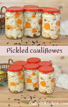 Pickled cauliflower - video recipe - isabell's kitchen Best Breakfast Recipes, Brunch Recipes, Great Recipes, Favorite Recipes, Healthy Recipes, Pickled Cauliflower, Homemade Pickles, Roasted Meat, International Recipes