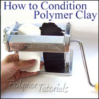 Eugena Topina explains how to condition pc.  #Polymer #Clay #Tutorials