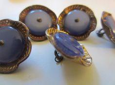 Vintage  Buttons   lot of 5 matching cupped metal by pillowtalkswf, $7.00