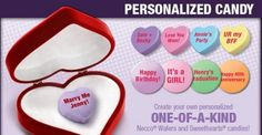 NECCO is very excited to announce its newest venture: personalized candy!  Fans are now able to order NECCO Wafers and Sweethearts with custom sayings on them through our new online webstore: MyNecco.com !