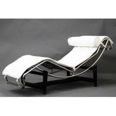 White LC4 Le Corbusier Chaise Lounge - East End Imports EEI-129-WHI