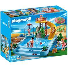 PLAYMOBIL Openluchtzwembad met glijbaan 4858