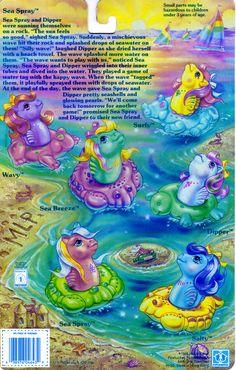 My Little Pony Baby Sea Pony Backcard
