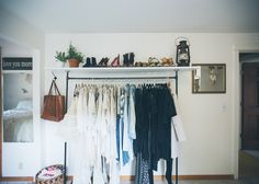 Bedroom white style plus custom dress rack and shoe storage