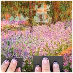 pointillism and nail art
