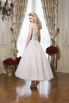 Wedding Dresses:   Illustration   Description   Justin Alexander Style 8750 Tulle tea length ball gown emphasized with a strapless neckline.    -Read More –   - #WeddingDresses https://adlmag.net/2018/01/05/wedding-dresses-inspiration-justin-alexander-style-8750-tulle-tea-length-ball-gown-emphasized-with-a-straple-3/