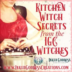We love our kitchen witchery here at Inked Goddess Creations. It could seem like kitchen magick is reserved for cooking, but you might be surprised! // #kitchenwitch #magick #herbalmagick #power #love #family #decor #antiques #herbs #tools Wiccan Spell Book, Wiccan Witch, Wiccan Spells, What Is Spirituality, Moon Witch, Kitchen Witchery, Witch Aesthetic, Practical Magic, Believe In Magic