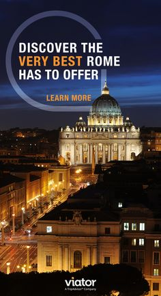Make your vacation to Rome even more memorable with our tours & activities!