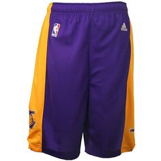 Adidas Los Angeles Lakers Youth (Sizes 8-20) Revolution 30 Replica Road  Shorts a2e397f90