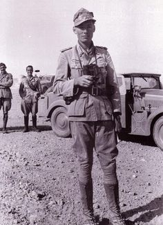 Hellmut von Leipzig in North Africa when he served as Rommel's driver. When the Afrikakorps were forced out of North Africa, von Leipzig went to officer training school in Plattenburg. In 1944 he was fighting with the Brandenburg Division on the Eastern front. He was awarded the Knight's Cross on 28th April 1945.
