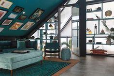 The Mandala House Sunk In Living Room, Loft Room, House Goals, Bunk Beds, Mandala, Villa, Bali, Shelves, Contemporary