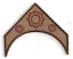 Patch - Steampunk military rank