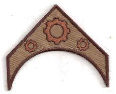 Steampunk Patch, Military Insignia, Custom Made