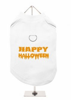 """Happy Halloween"" Harness-Lined Dog T-shirt"