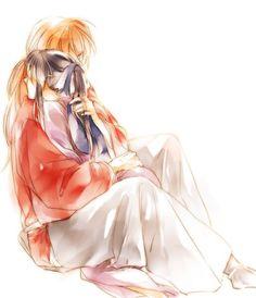 Kenshin, Kaoru ( Himura Kenshin X Kamiya) Rurouni Kenshin, Kenshin Anime, All Anime, Anime Love, Anime Manga, Anime Guys, Era Meiji, Samurai, Kenshin Le Vagabond
