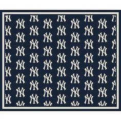 New York Yankees Repeat Logo Area Rug