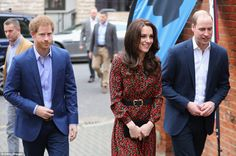 Kate Middleton joined by William and Harry at charity event | Daily Mail Online