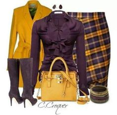 Skirt Yellow Outfit Boots 45 Ideas For 2019 Classy Outfits, Stylish Outfits, Mode Outfits, Fall Outfits, Yellow Skirt Outfits, Work Fashion, Fashion Looks, Jw Fashion, Fashion Sites