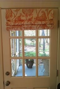 roman shade - window treatment for front door window.