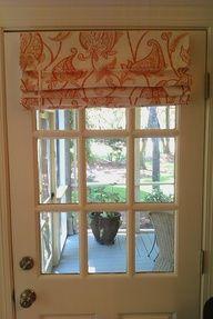 roman shade - window treatment for front door window.