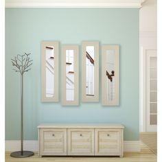 American Made Rayne Arctic Ivory Panel Mirrors (Set of 2: 9.5 x 21.5), White