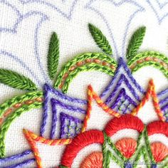 Tulip Festival: An Embroidered Kaleidoscope - Working Outwards - Part 2 of a series of tutorials on embroidering this kaleidoscope. Drop by a join in!