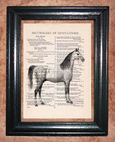 Dapple Gray Horse  Dictionary Book Page Art Print by CocoPuffsArt, $9.99
