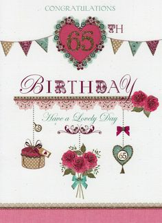 Details About Congratulations 65th Birthday Card
