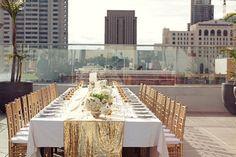 Decoración con lentejuelas #boda #decoración