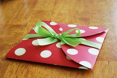cute way to make an envelope