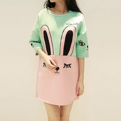 """Use this coupon code """"playbanovici"""" to get all 10% off!   Korean sweet cute bunny dress"""