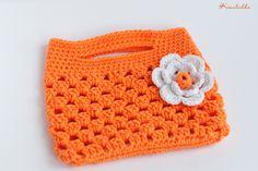 "Handmade Baby Bag Crochet ""Orange Mood"""