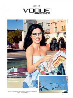 Adriana Lima is a California Girl in Vogue Eyewear's Spring Ads