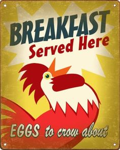 Amazon.com: Breakfast Rooster Kitchen Sign: Home & Kitchen