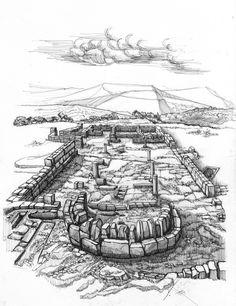 Basílica de Eio en el conjunto de Tolmo de Minateda