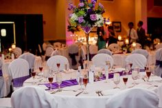 Purple is the Wedding Color at Seaview Resort, NJ