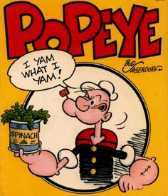 I'm Popeye the Sailor Man, I live in a garbage can....oh the playground