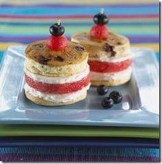 Watermelon Sandwich Cookies.