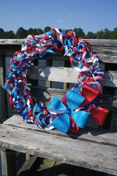4th of July Upcycled Wreath by BeyondBottles on Etsy