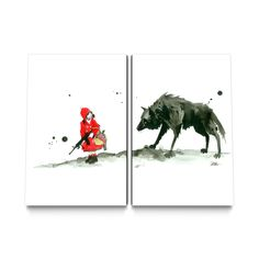 Red Riding Hood Canvas Set by Lora Zombie