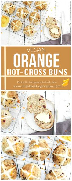 This batch of hot cross buns incorporates dried cranberries and orange zest for ultimate flavour whilst being vegan & easy! Delicious Vegan Recipes, Raw Food Recipes, Brunch Recipes, Vegetarian Recipes, Yummy Food, Vegan Sweets, Vegan Desserts, Vegan Food, Easter Recipes