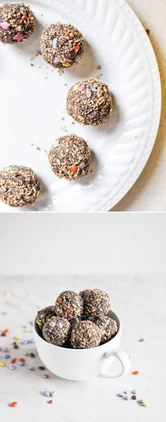 No Bake Double Chocolate Peanut Butter Snack Bites I howsweeteats.com
