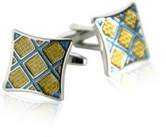 Yellow & Blue Plaid Cufflinks by Cuff-Daddy Cuff-Daddy. $29.99. Made by Cuff-Daddy. Arrives in hard-sided, presentation box suitable for gifting.. Save 60%!