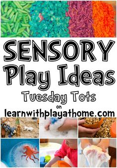Learn with Play at home: Sensory Play Ideas... THIS. IS. AWESOME.  So many great ideas for babies too