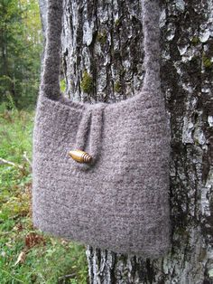 Handmade felted wool purse handbag natural by PalmCoastCottage, $29.95