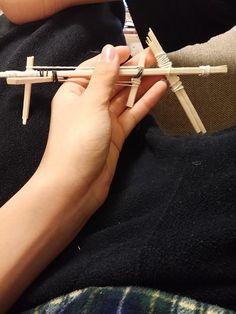【画像あり】見て見て!割り箸鉄砲作った!