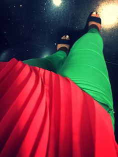 Friday outfit #green #pink